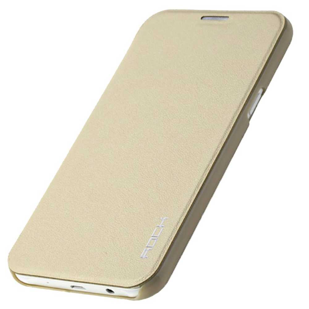Flip Cover For Samsung Galaxy J5 Goldon Transparent Car Front View