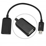 USB OTG Adapter Cable for Karbonn Alfa A93 Pop